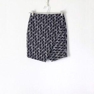 loft ikat jacquard faux wrap skirt